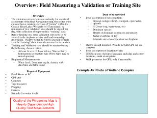 Overview: Field Measuring a Validation or Training Site
