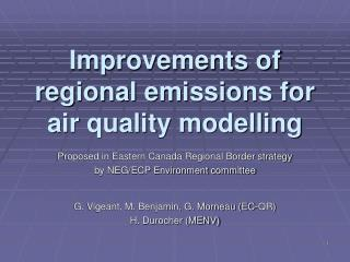 Improvements of regional emissions for air quality modelling