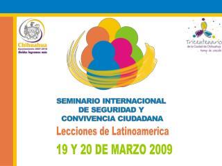19 Y 20 DE MARZO 2009