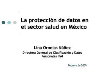 La protección de datos en el sector salud en México
