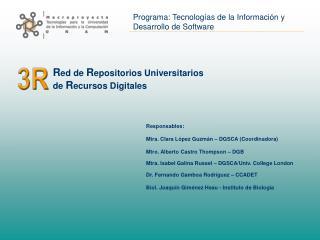 R ed de  R epositorios Universitarios  de  R ecursos Digitales