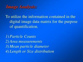 Image Analysis:
