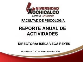 REPORTE ANUAL DE ACTIVIDADES