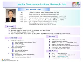 Mobile  Telecommunications  Research  Lab