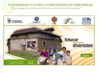 DIVERSIDAD CULTURAL Y COMUNIDADES DE APRENDIZAJE