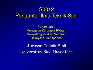 Jurusan Teknik Sipil Universitas Bina Nusantara