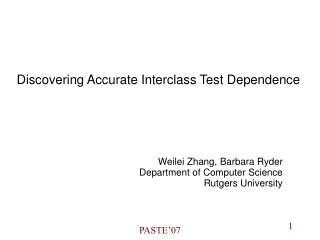 Discovering Accurate Interclass Test Dependence