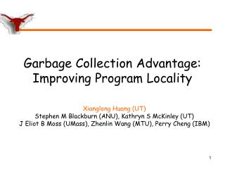 Garbage Collection Advantage: Improving Program Locality