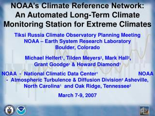 What�s So Special About  Climate Reference Stations?