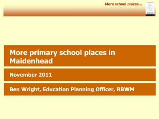 More school places�