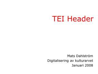TEI Header