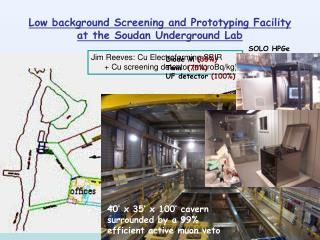 Low background Screening and Prototyping Facility  at the Soudan Underground Lab