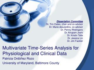Multivariate Time-Series Analysis for Physiological and Clinical Data