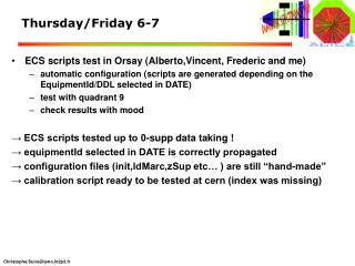 Thursday/Friday 6-7