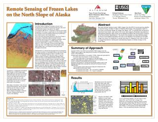 Remote Sensing of Frozen Lakes on the North Slope of Alaska