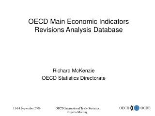 OECD Main Economic Indicators Revisions Analysis Database