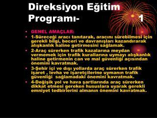 Direksiyon Eğitim Programı-1