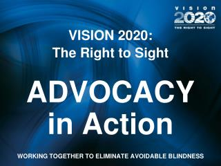 VISION 2020:  The Right to Sight ADVOCACY in Action