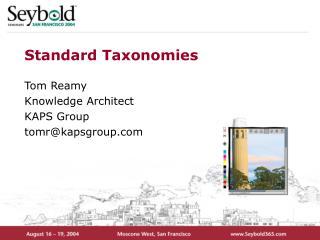 Standard Taxonomies