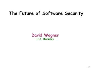 The Future of Software Security