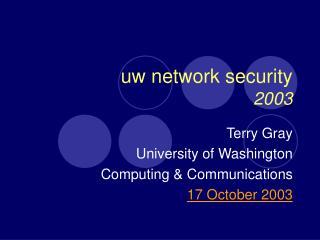 uw network security 2003