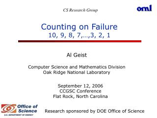 Counting on Failure 10, 9, 8, 7,…,3, 2, 1