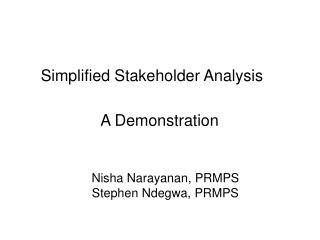 Nisha Narayanan, PRMPS Stephen Ndegwa, PRMPS
