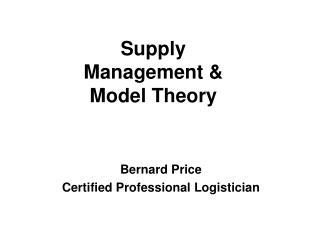 Bernard Price Certified Professional Logistician