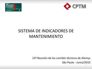 SISTEMA DE INDICADORES DE MANTENIMIENTO
