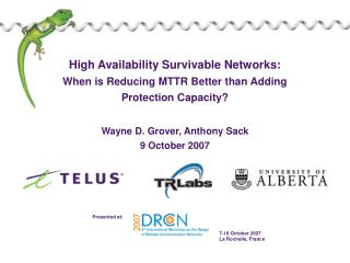 high availability survivable networks