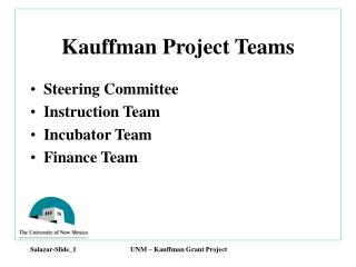 Kauffman Project Teams