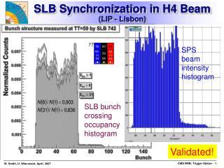 SLB Synchronization in H4 Beam (LIP - Lisbon)
