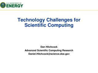 Technology Challenges for Scientific Computing