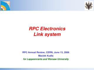 RPC Electronics Link system