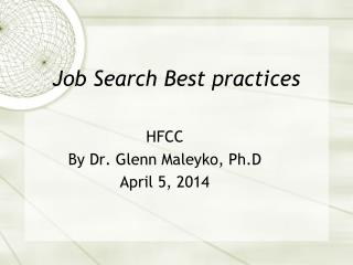 Job Search Best practices