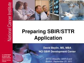 Preparing SBIR/STTR Application
