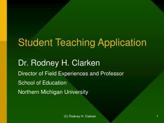 Student Teaching Application