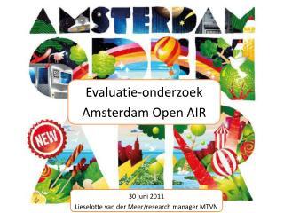 Evaluatie-onderzoek Amsterdam Open AIR