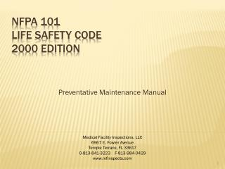 NFPA 101  Life Safety Code 2000 Edition