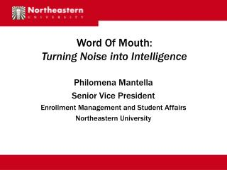 Word Of Mouth: Turning Noise into Intelligence
