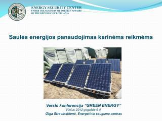 Saulės energijos panaudojimas karinėms reikmėms