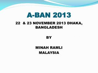 A-BAN 2013