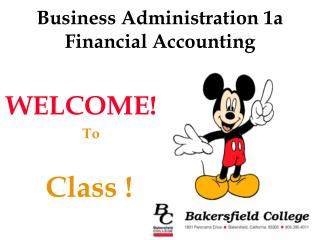 Business Administration 1a Financial Accounting