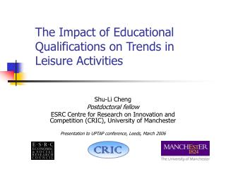 The Impact of Educational Qualifications on Trends in Leisure Activities