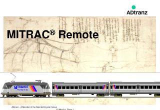 MITRAC  Remote