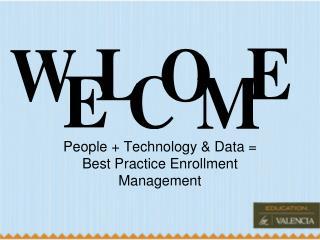 People + Technology & Data = Best Practice Enrollment Management