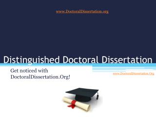 Your Personal Doctoral Dissertation Writing Service