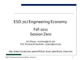 ESD.70J Engineering Economy