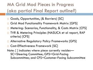 MA Grid Mod Pieces in Progress  (aka partial Final Report outline?)