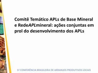 Rede APL mineral